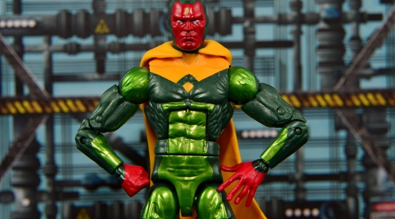 Marvel Legends Vision figure review -main pic