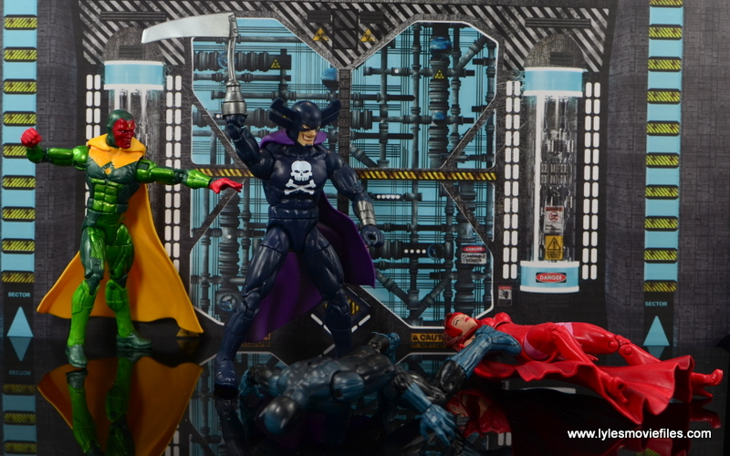 Marvel Legends Vision figure review - rescuing Avengers from Grim Reaper