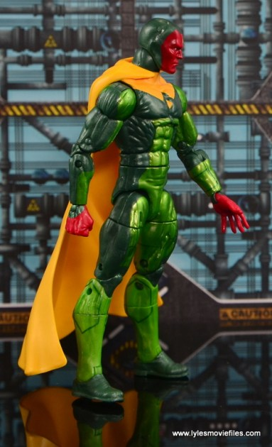 Marvel Legends Vision figure review - right side