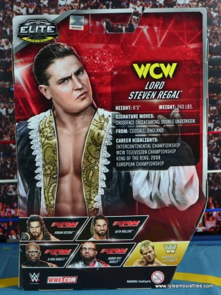 WWE Elite 45 Steve Regal figure review -package rear