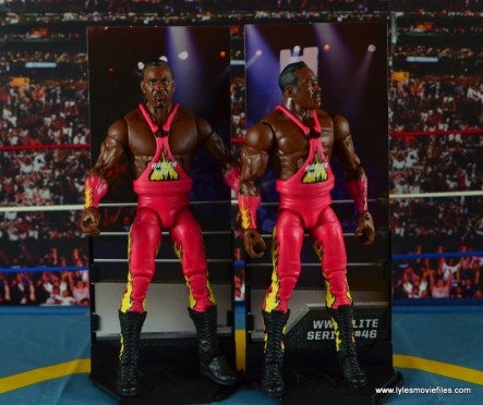 WWE Elite 46 Harlem Heat figure review - Stevie Ray and Booker T on diorama stands