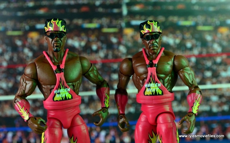 WWE Elite 46 Harlem Heat figure review - with doo rags and sunglasses