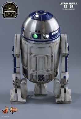 Hot Toys Star Wars The Force Awakens R2-D2 figure -rear