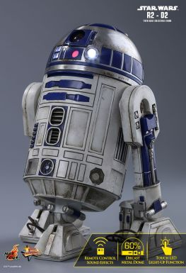 Hot Toys Star Wars The Force Awakens R2-D2 figure - resting back