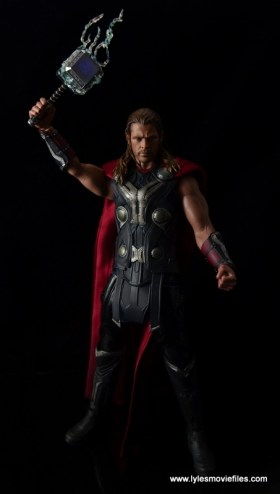 Hot Toys Thor figure review Avengers Age of Ultron -raising lit up Mjloner