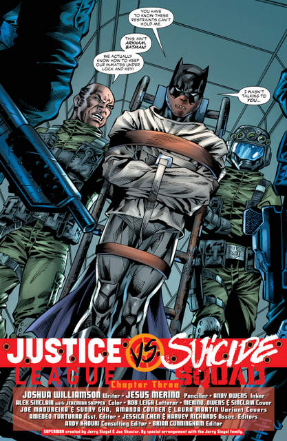 Justice League vs Suicide Squad #3 interior art