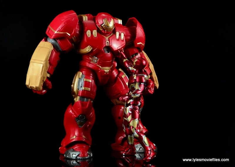 Marvel Legends Hulkbuster Iron Man figure review - Iron Man getting ready to get into armor