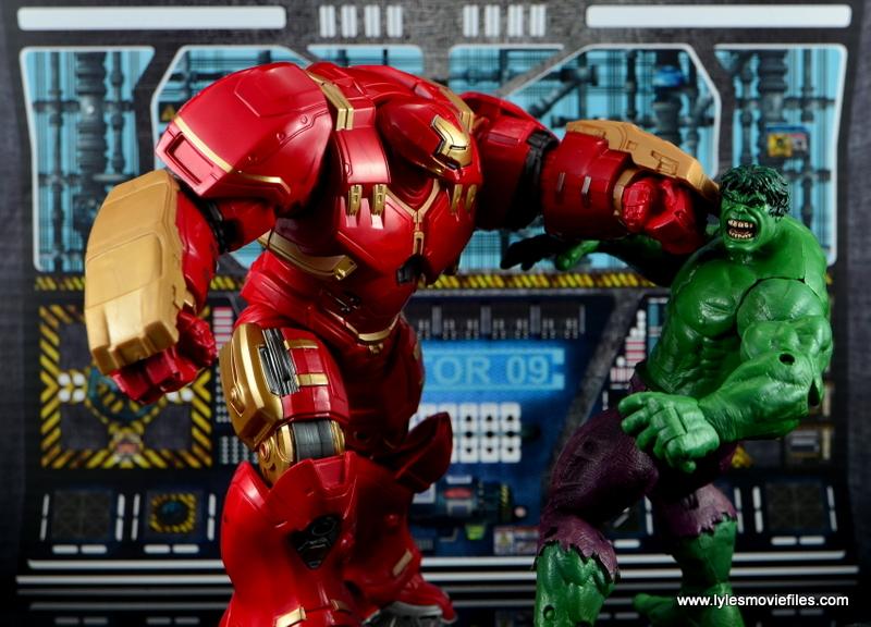 Marvel Legends Hulkbuster Iron Man figure review - punching Hulk
