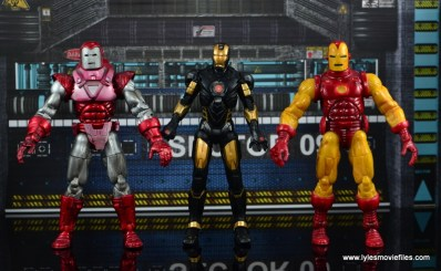 Marvel Legends Marvel Now Iron Man figure review - with Silver Centurion and classic armors