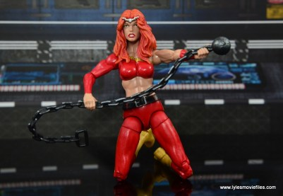 Marvel Legends Thundra figure review - kneeling