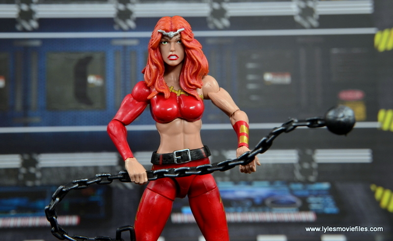 Marvel Legends Thundra figure review -wide holding ball and chain