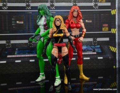 Marvel Legends Thundra figure review -with She-Hulk and Warbird
