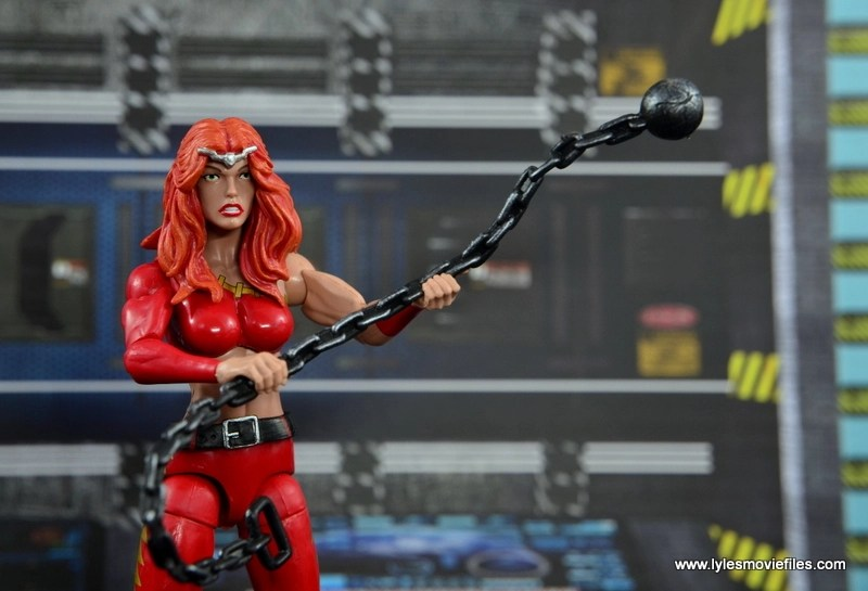 Marvel Legends Thundra figure review -with chain wide