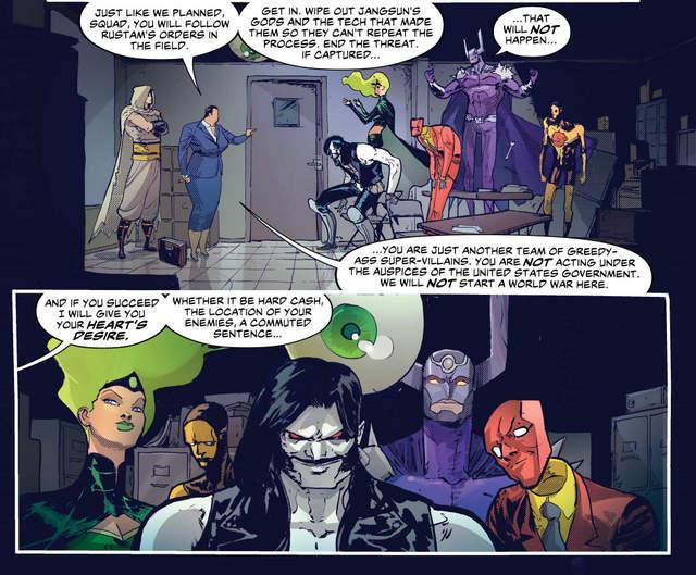 Suicide Squad #9 interior art