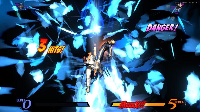 Ultimate Marvel vs Capcom 3 - Ryu hits super on Nova