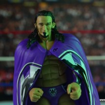 WWE Elite 42 Neville figure review - cape range of motion