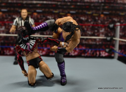 WWE Elite 42 Neville figure review - stretching out Finn Balor