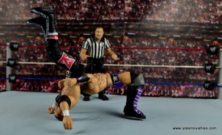 WWE Elite 42 Neville figure review - suplex to Sami Zayn