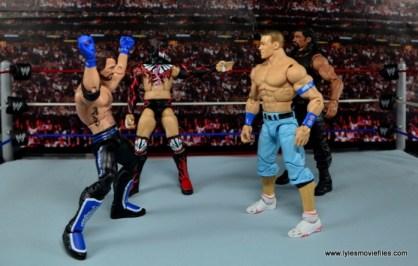 WWE Elite AJ Styles figure review - Bullet Club vs John Cena and Roman Reigns