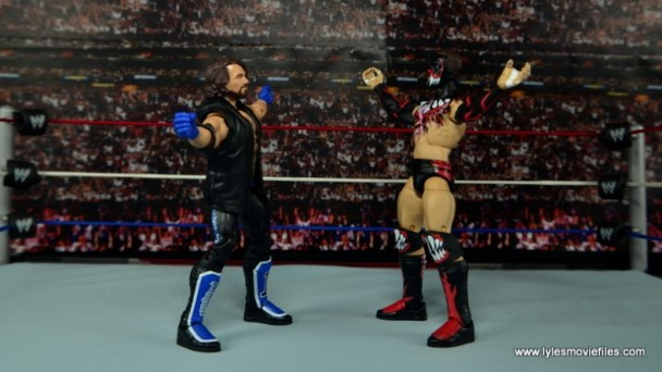 WWE Elite AJ Styles figure review - face off with Finn Balor