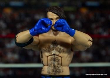 WWE Elite AJ Styles figure review - glove pose