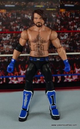 WWE Elite AJ Styles figure review - straight