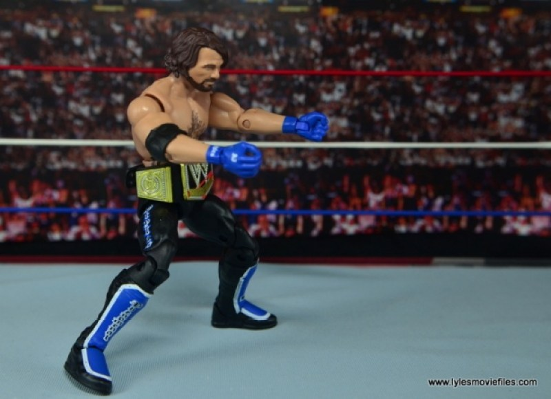 WWE Elite AJ Styles figure review - taking aim Bullet Club style