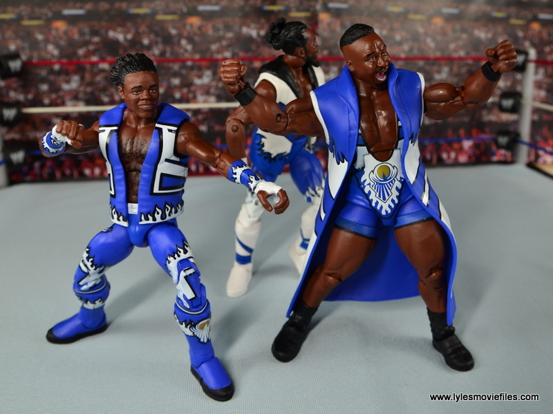 WWE Elite New Day figure review - Big E leading the dance