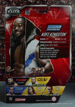 WWE Elite New Day figure review - Kofi rear package