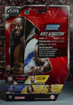 WWE Elite New Day figure review - Kofi rear package