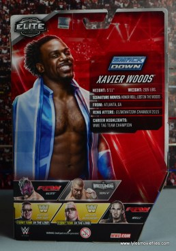 WWE Elite New Day figure review - Xavier rear package