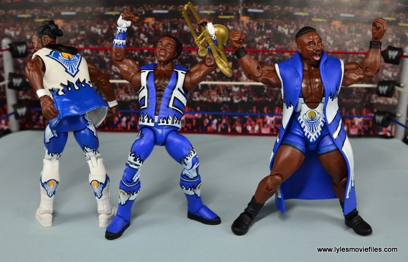 WWE Elite New Day figure review - gloating before the match starts