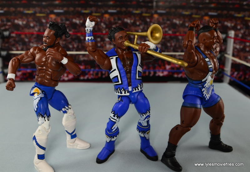 WWE Elite New Day figure review - post match dance with Francesca