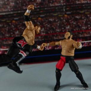 WWE Elite Sami Zayn figure review - dive onto Samoa Joe
