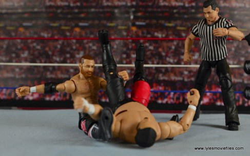 WWE Elite Sami Zayn figure review - powerbomb to Samoa Joe