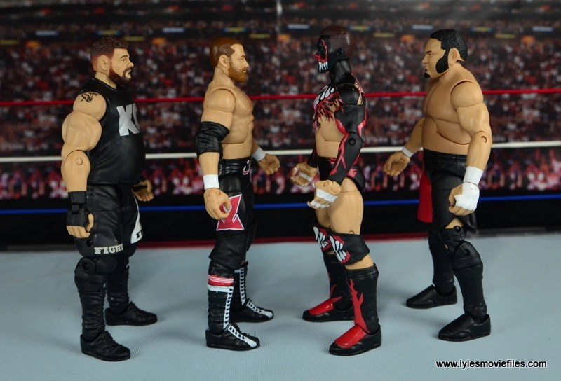 WWE Elite Sami Zayn figure review - scale to Kevin Owens, Finn Balor and Samoa Joe