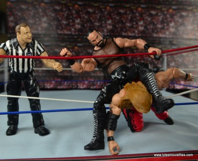 WWE Elite Then Now Forever Macho Man Randy Savage figure review - choking Nash out in ropes