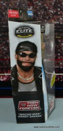 WWE Elite Then Now Forever Macho Man Randy Savage figure review - package side