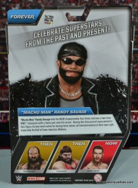 WWE Elite Then Now Forever Macho Man Randy Savage figure review - rear package