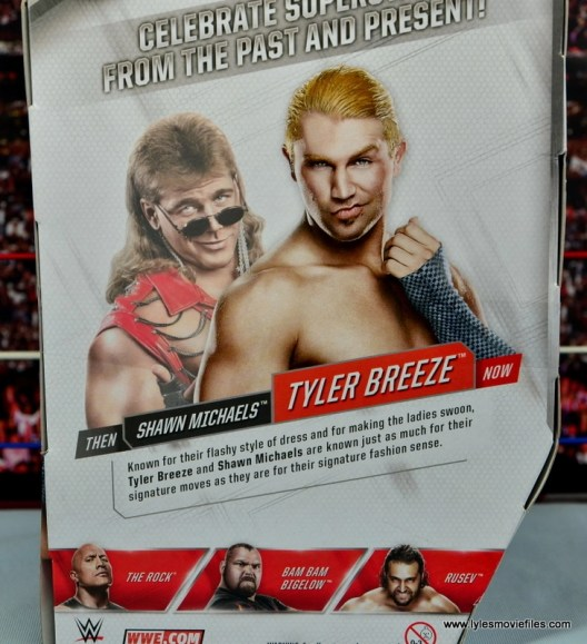 WWE Elite Tyler Breeze figure review - bio