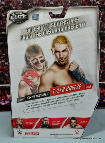 WWE Elite Tyler Breeze figure review - package rear