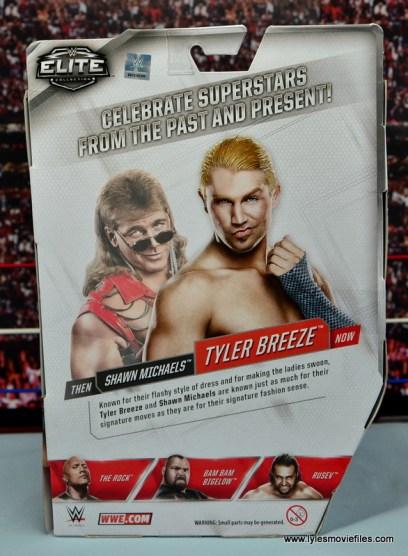 WWE Elite Tyler Breeze figure review - package rear