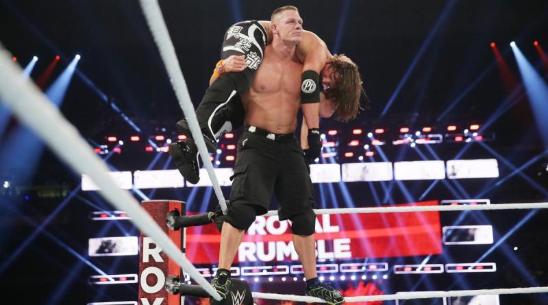 WWE Royal Rumble 2017 - John Cena Super AA on AJ Styles