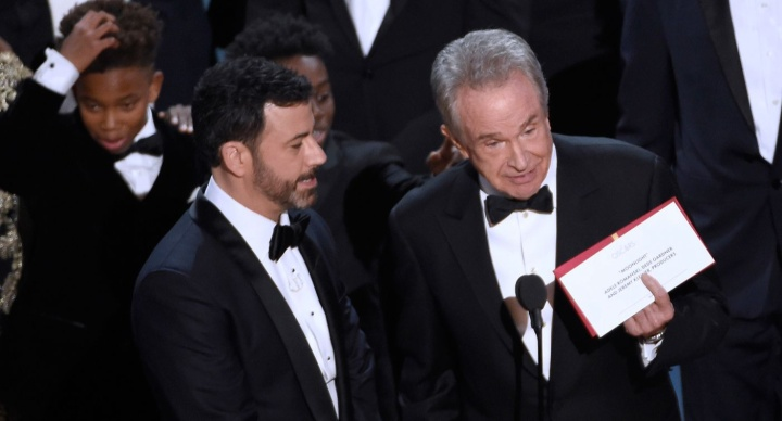 2017 - Jimmy Kimmel and Warren Beatty