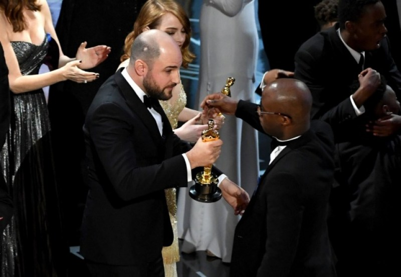 2017 Oscars - Jordan Horowitz and Barry Jenkins