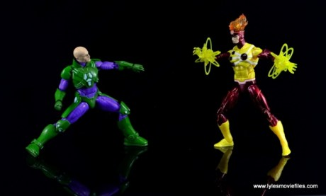 DC Icons Firestorm figure review - vs Lex Luthor