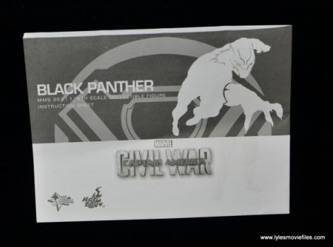 Hot Toys Black Panther figure review - instructions main