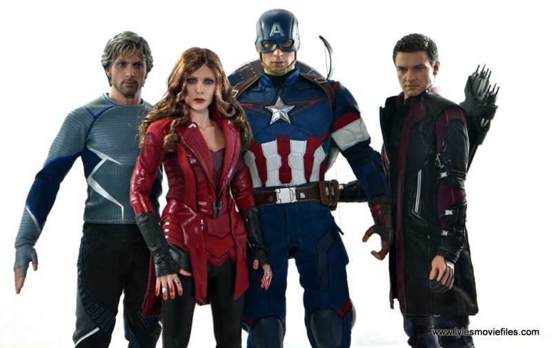 Hot Toys Scarlet Witch figure review - Cap's Kookey Quartet - Quicksilver, Captain America and Hawkeye