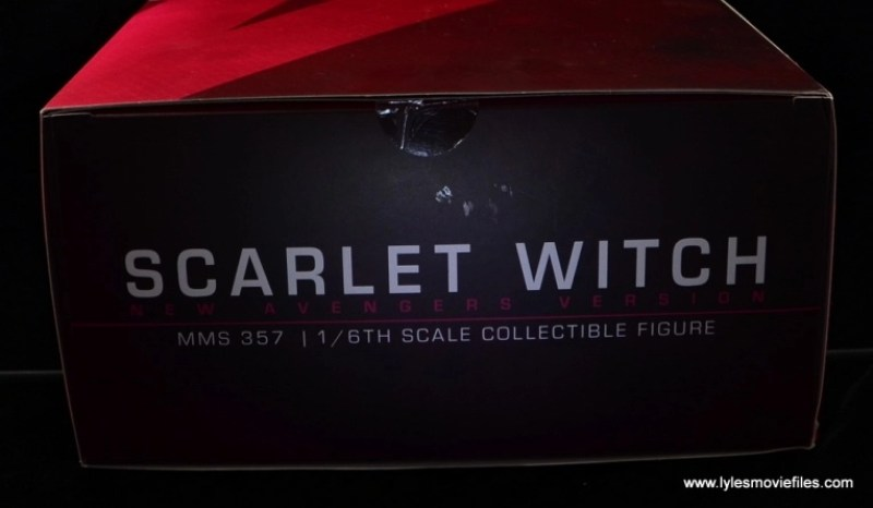 Hot Toys Scarlet Witch figure review - package top