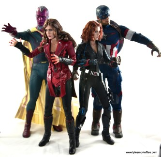 Hot Toys Scarlet Witch figure review - with Vision, Black Widow and Captain America